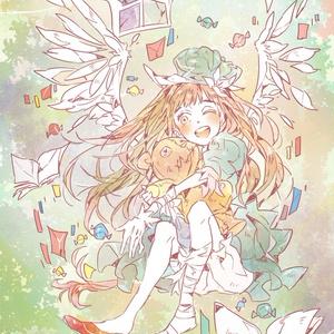 天使女子 iPhone・Androidケース(ツヤあり・コート)