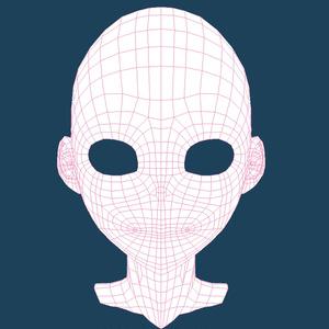3Dキャラクター顔素体