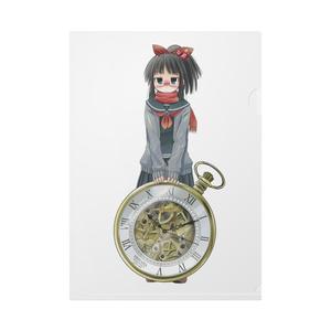 暇劇、柊りん(冬制服:クリアファイル)
