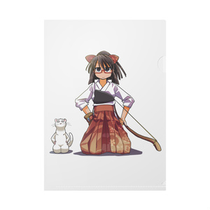 暇劇、柊りん(弓道着B:クリアファイル)