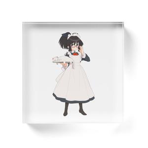 暇劇、柊りん(メイド服:アクリルブロック)