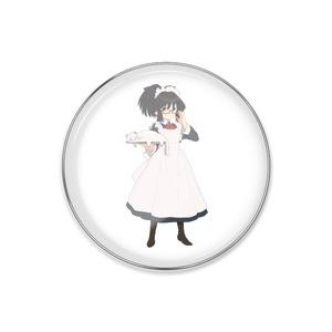 暇劇、柊りん(メイド服:ピンバッジ)