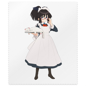 暇劇、柊りん(メイド服:メガネ拭き)