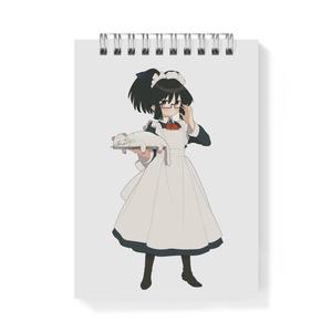 暇劇、柊りん(メイド服:メモ帳)