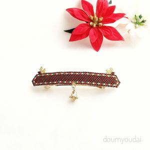 クリスマス☆トナカイのバレッタ