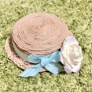 ぬい用麦わら風帽子