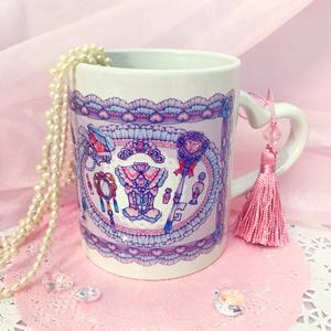 お姫様のワードローブ♡ハートハンドルマグカップ