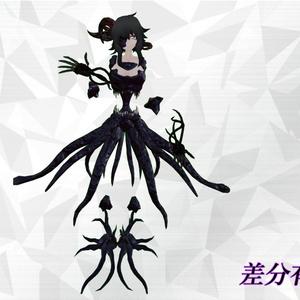 オリジナル3Dモデル「被検体 tentacle form」ver1.1