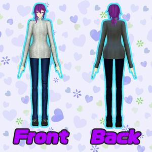 オリジナル3Dモデル「Kaoru」ver1.1