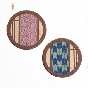 フレークシールNo.01【和柄丸窓 毘沙門亀甲/矢絣】