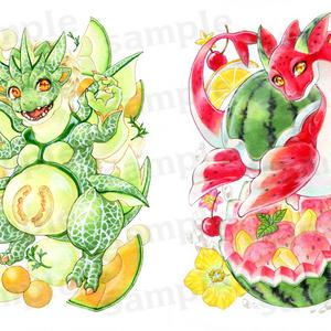 Fruit Mix【果物ドラゴンイラスト集】