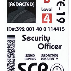 SCP財団 職員身分証明書 ICカードステッカーセット