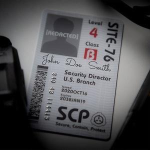 SCP財団 記名式認証カード