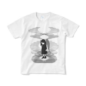 二重螺旋☆Tシャツ-プリント大(短納期)白