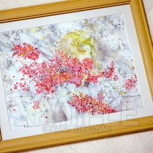 それは血潮の花【水彩原画】