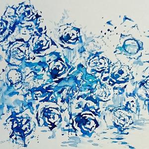Blue rose fairy【水彩原画】