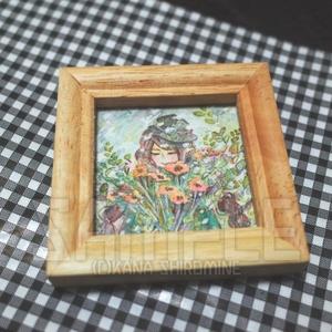 大輪の花 3種【水彩ミニ原画】