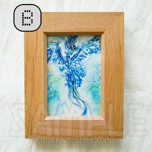 青い国の姫君と従者たち【透明水彩原画】