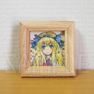 ちびアリスの肖像【透明水彩原画】