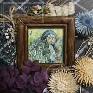 隠者と謎の生き物【ミニ原画】