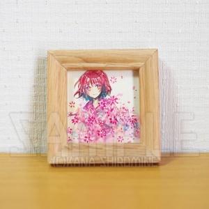 花の火になる【透明水彩原画】