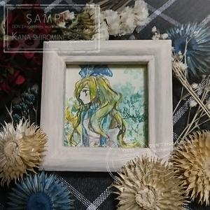 ちいさなアリスの肖像【水彩原画】