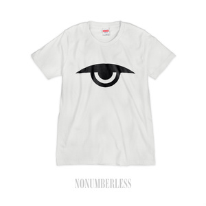 5.6oz 半袖シルクスクリーンTシャツ EVIL EYE ホワイト