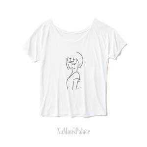 ドレープTシャツ RULE PROOF 3 - Amore e Morte ホワイト - 受注生産