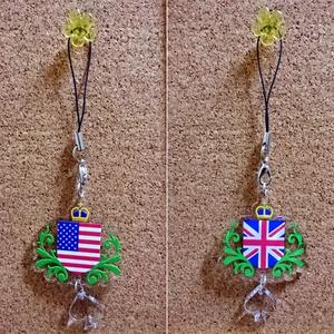 星条旗&ユニオンジャック国旗柄アクリルストラップ