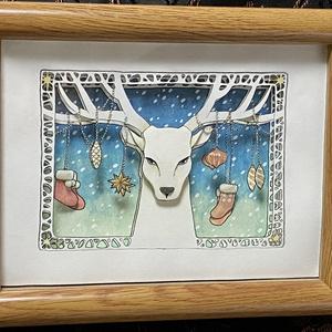 「Deer Christmas」シャドウボックス