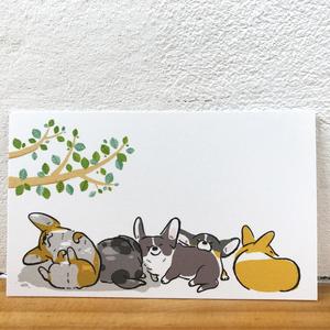 コーギーリーフメッセージカード