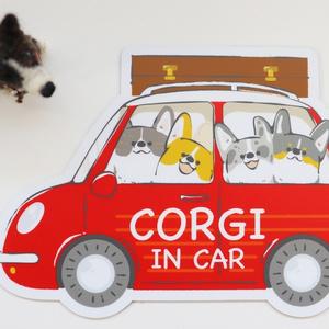 【再販】コーギーのマグネットステッカー