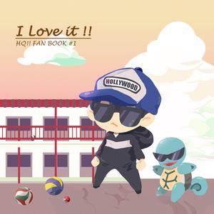 I Love it !! HQ!! FAN BOOK #1(ポストカード+アクキー+缶バッジセット)