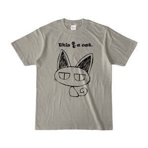 This is a cat. カラーTシャツ