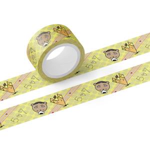 【ハイキューデザイン】 赤葦タヌキと木葉ギツネのマスキングテープ