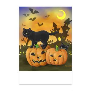 ハロウィン黒猫親子