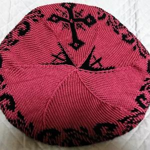 血界戦線▼クラウスカラーベレー帽▼手編み