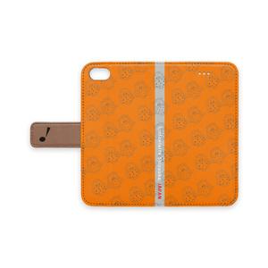 iPhoneケース(オレンジ 手帳型)