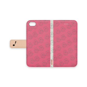 iPhoneケース(ピンク③/マリー・アントワネット 手帳型)