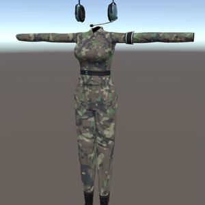 VRC向け迷彩服(女性用)