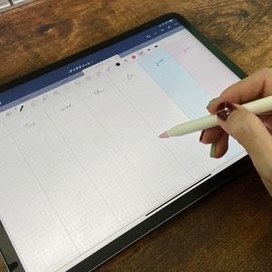 iPadバレットジャーナル用ウィークリーフォーマット