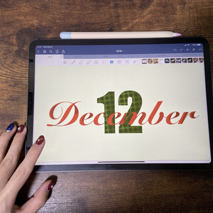 iPadバレットジャーナル12月表紙
