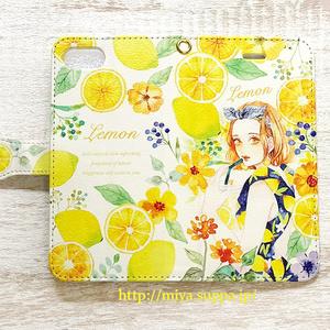 《受注生産》手帳型★iPhoneケース【レモン】