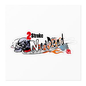 「2Storoke Not Dead」ステッカー(左向き)
