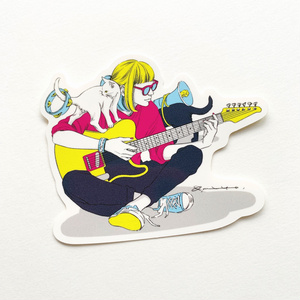 猫ギター ステッカー