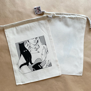 コットン巾着 3種