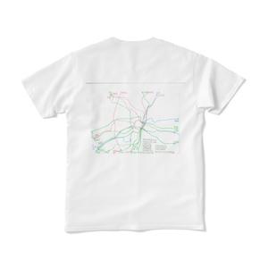 俺が勝手に妄想した、大深度地下鉄相互乗り入れネットワークTシャツw