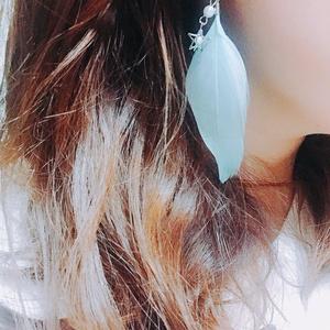 【あんスタ fine イメージ】パールとフェザーのイヤリング