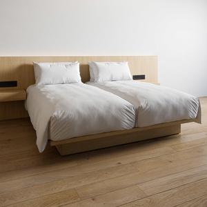 ホテル ベッド デュベスタイル - ハリウッドツイン (W100cm x2)【家具3Dモデル】