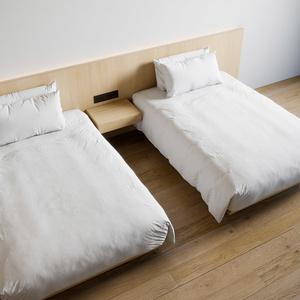 ホテル ベッド デュベスタイル - ダブルサイズ ツイン (W140cmx2)【家具3Dモデル】